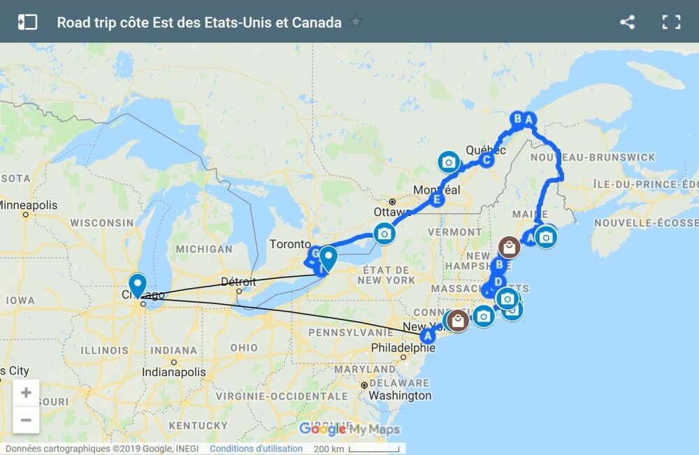 Road trip côte Est des USA