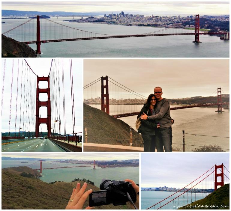 Vue sur le Golden Gate Bridge de San Francisco en Californie