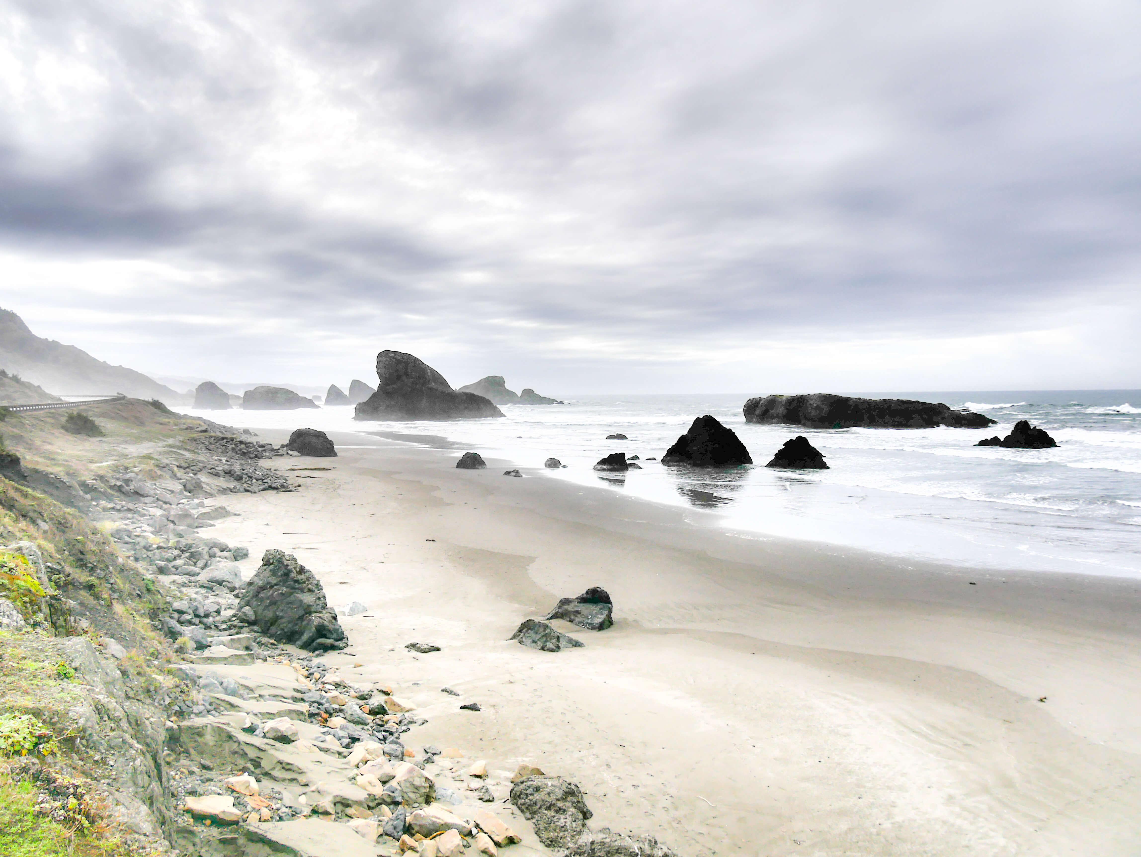Climat en Oregon et route qui longe la côte