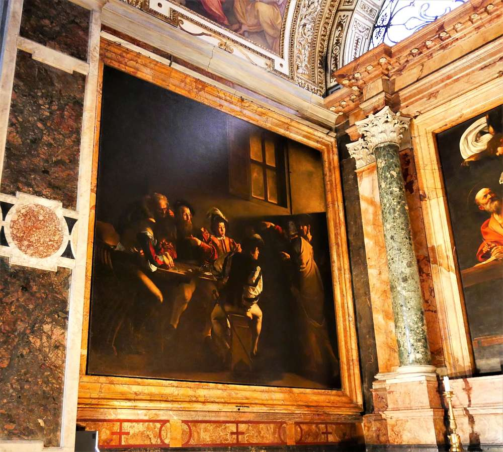 week end romantique rome caravage eglise san luigi dei francesi rome italie blog voyage suisse. Black Bedroom Furniture Sets. Home Design Ideas