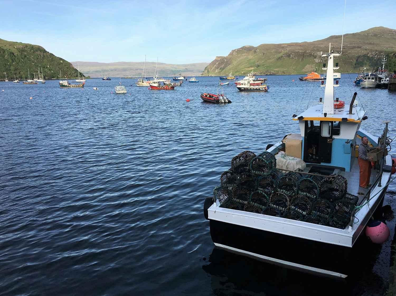 Port de Portree sur l'Ile de Skye en Ecosse