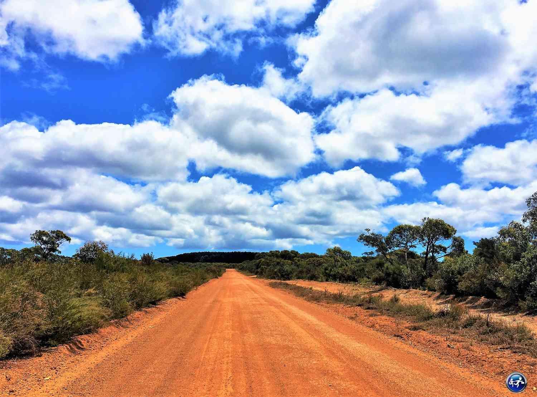 Une route en terre battue sur laquelle on a conduit