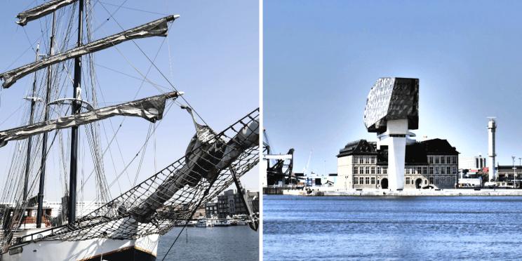 Le quartier d'Eilandje et la Maison du Port à Anvers