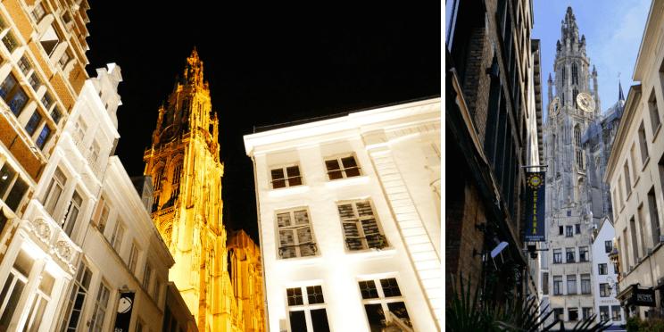 Les ruelles autour de la cathédrale notre-dame d'Anvers