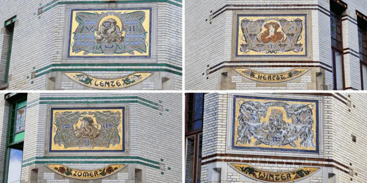 Maisons des quatre saisons dans quartier de Zurenborg à Anvers