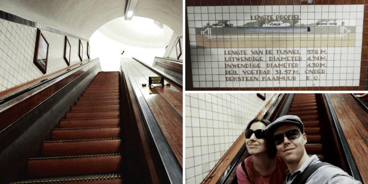 Tunnel Sainte Anne découvert en visitant Anvers à pied
