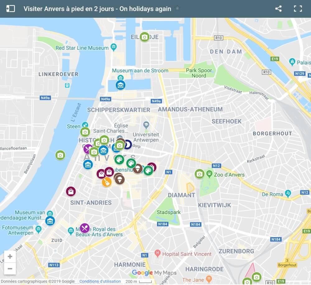 Visiter Anvers à pied en 2 jours