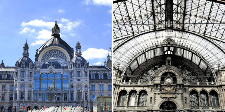 La gare d'Anvers est une cathédrale d'acier