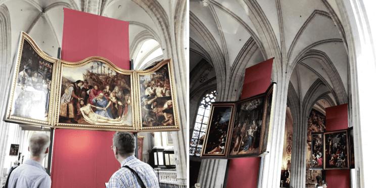 Les oeuvres baroques dans la cathedrale notre-dame à Anvers