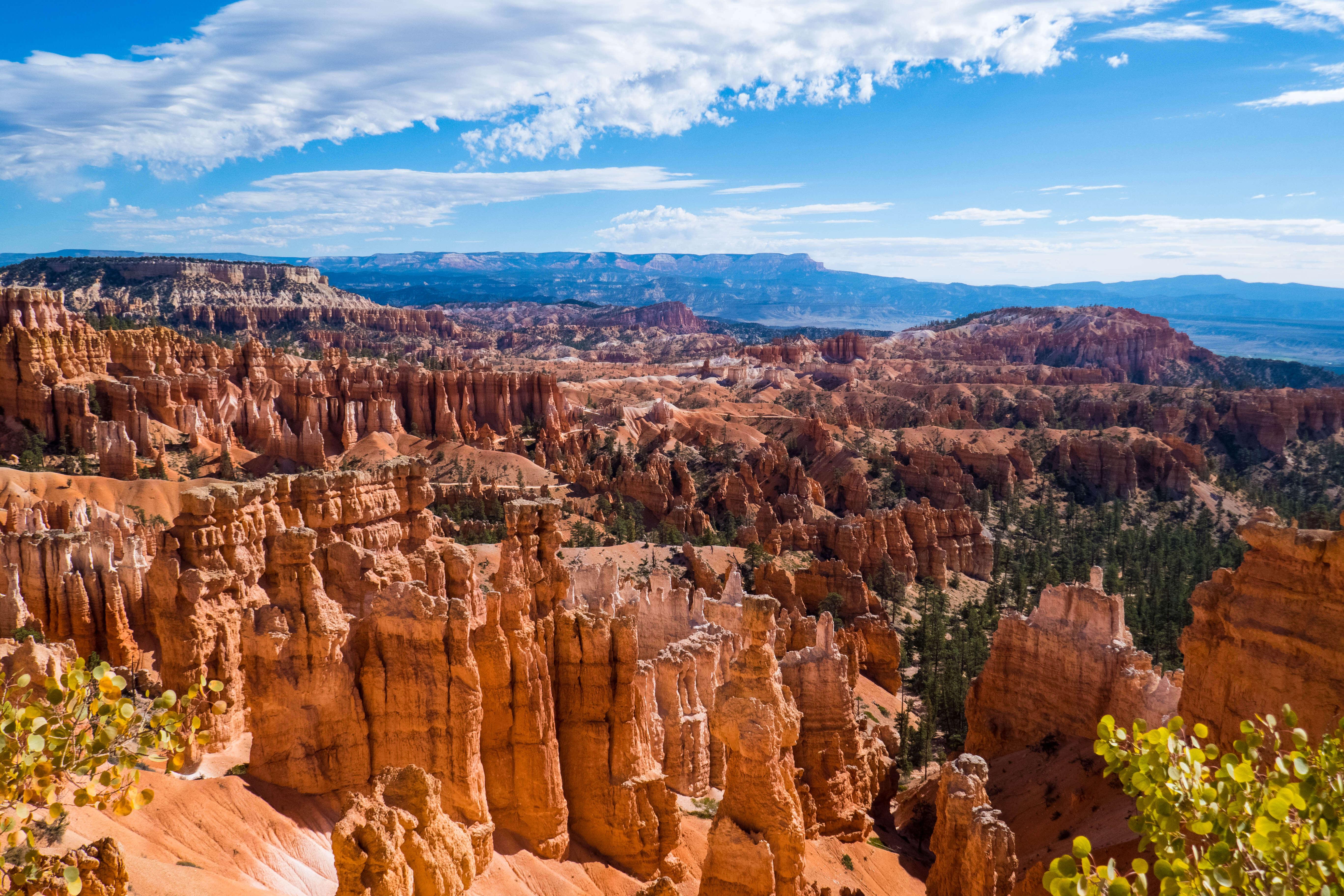 Vue sur Bryce Canyon dans l'Ouest américain