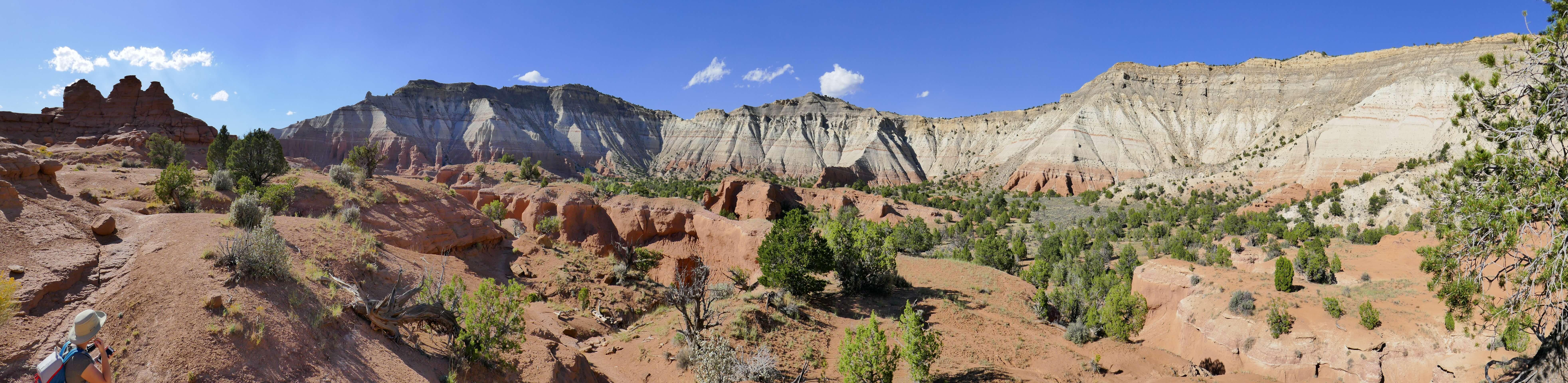 Vue sur Kodachrome Basin State Park sur la route 12 dans l'Utah