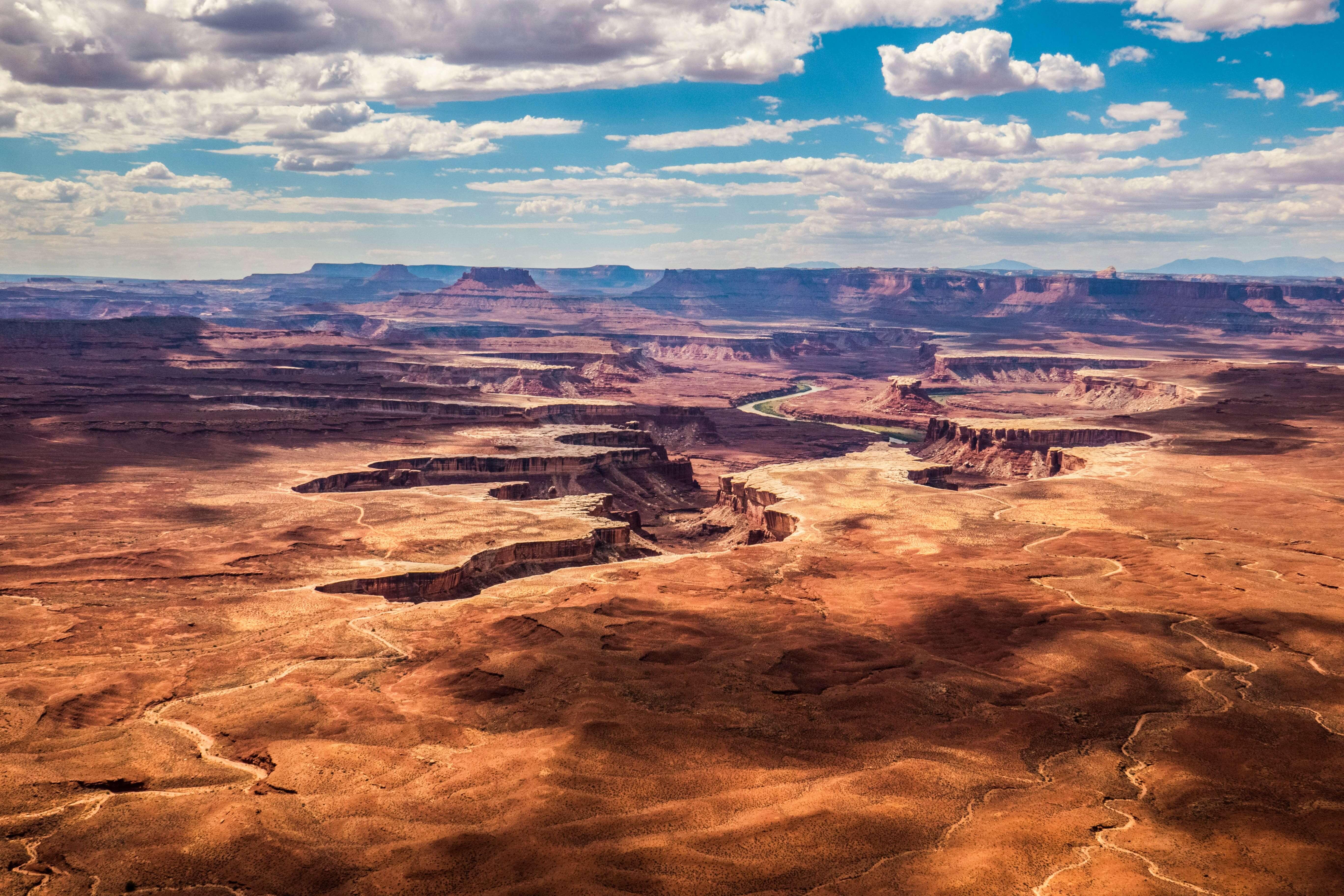 Vue sur depuis le parc national de Canyonlands à Moab dans l'Utah