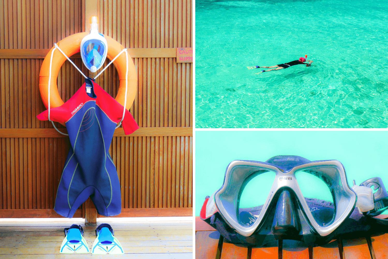 Equipement de snorkeling à mettre dans sa valise pour les Maldives