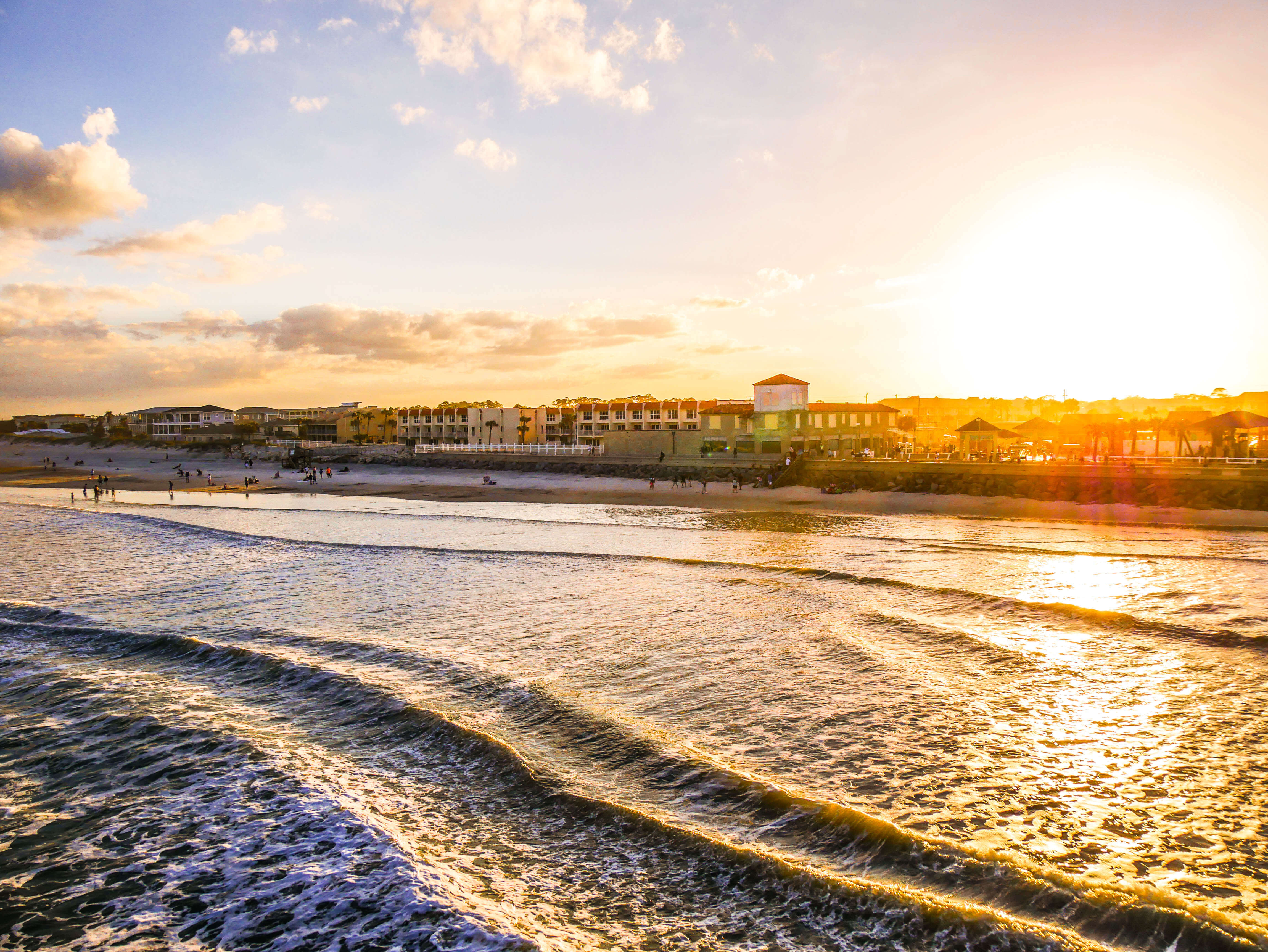 Coucher de soleil St Augustine Beach Floride