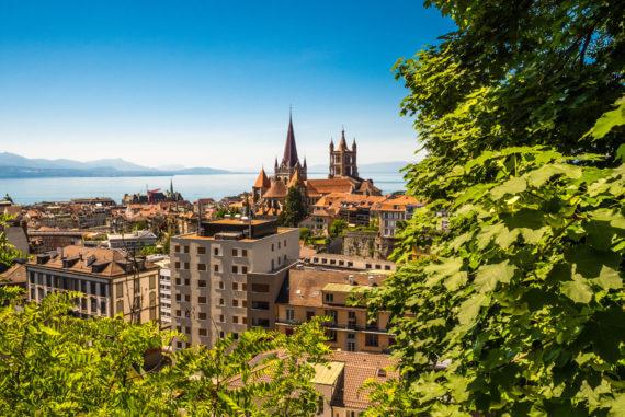 Visiter Lausanne_vue sur la cathédrale