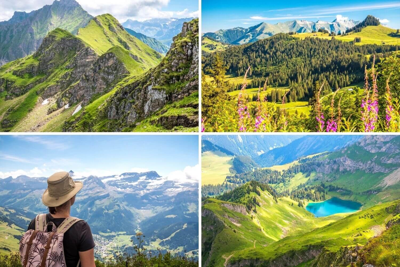 Panoramas de la randonnée jusqu'au Pic Chaussy autour du Lac Lioson