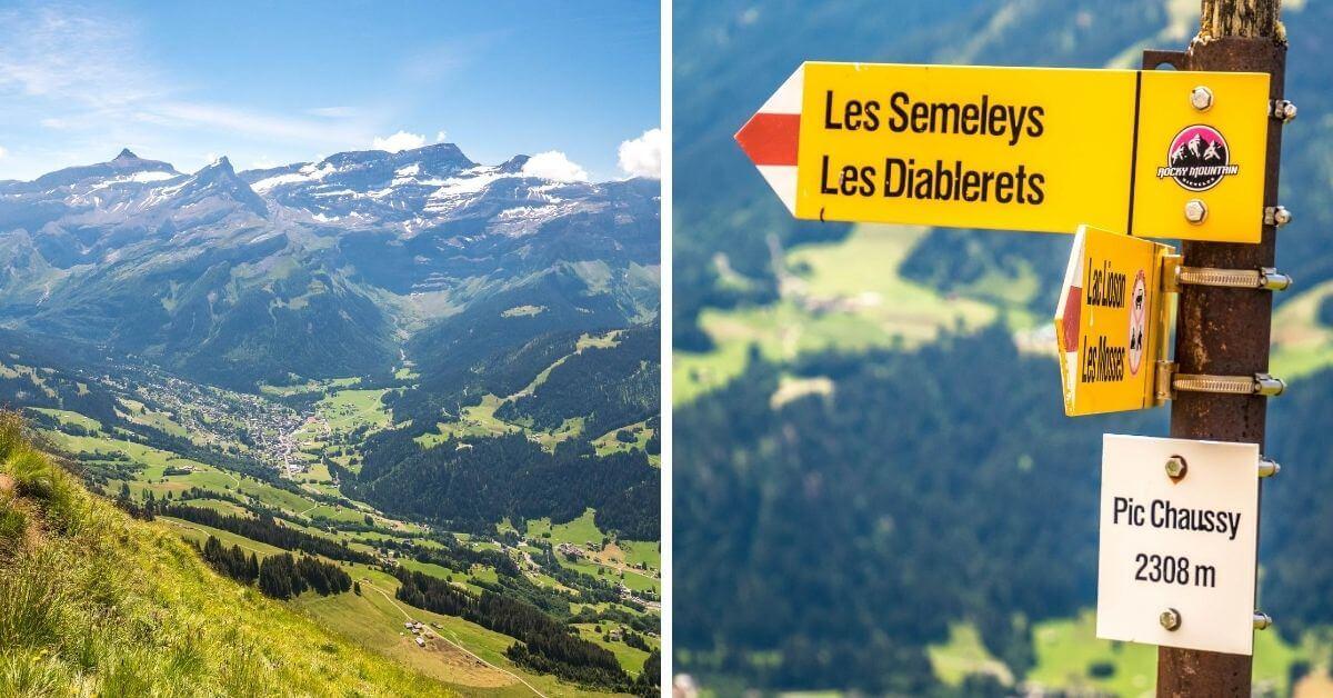 Vue sur la vallée, avant le sommet du Pic Chaussy