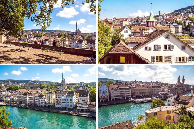 Vue depuis le Lindenhof à Zurich