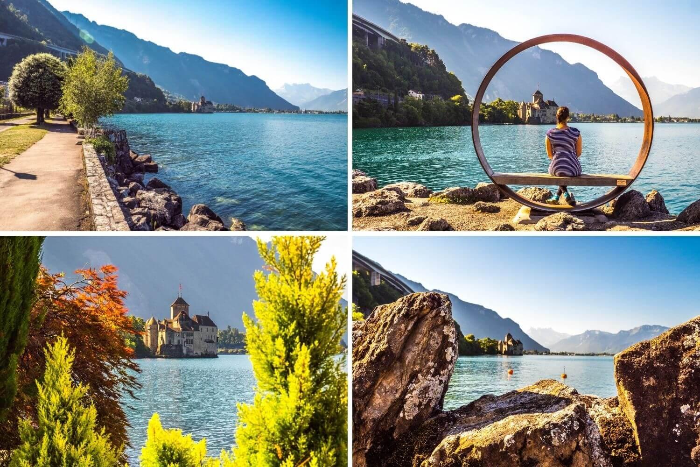 Chemin sans obstacle Montreux Chillon