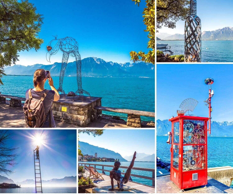 Sculptures et art sur les quais de Montreux