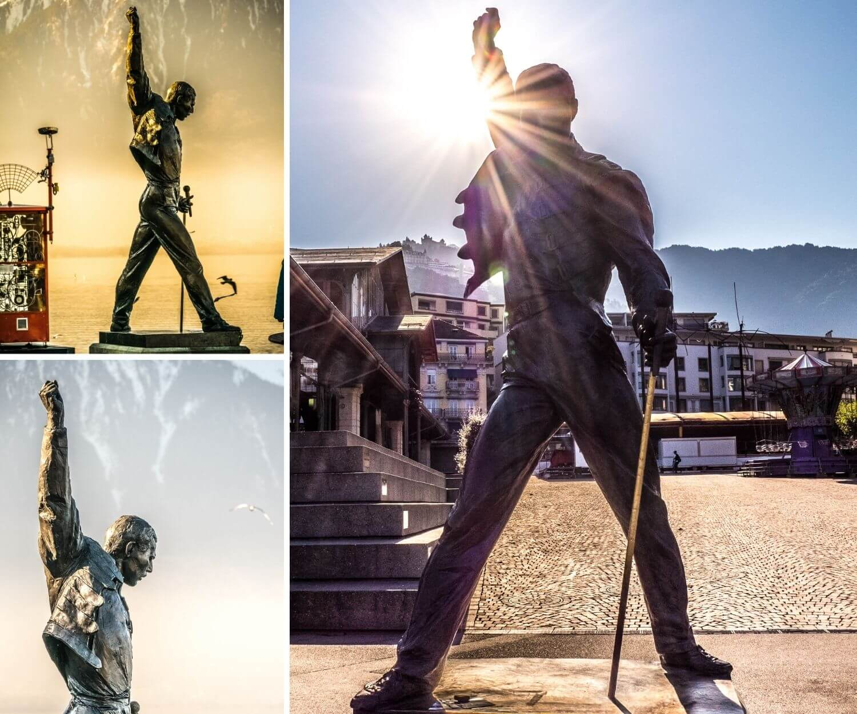 Statue Freddie Mercury Queen à Montreux