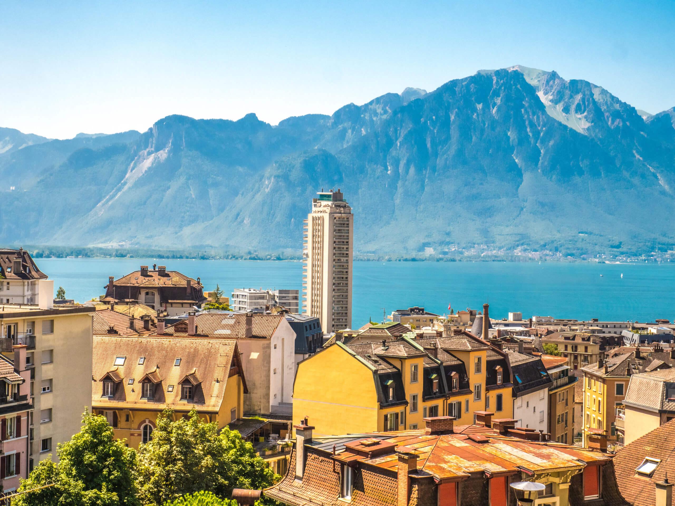 Vue sur Montreux depuis la Vieille ville