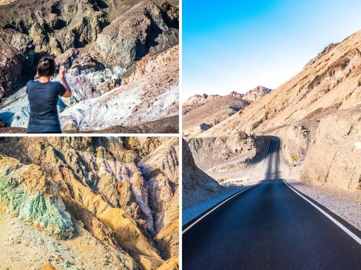 Artist Palette Drive désert Vallée de la Mort