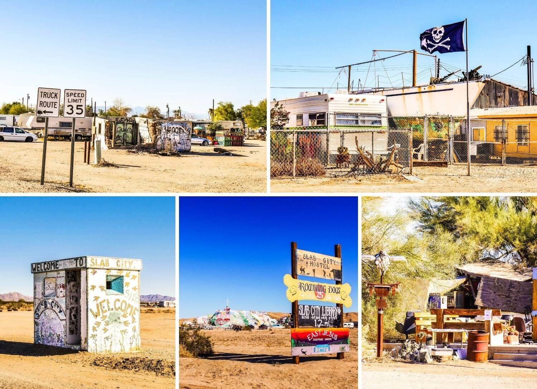 Bombay Beach et Slab City désert Californie Salton Sea