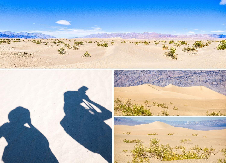 Dunes de sable désert californien Death Valley
