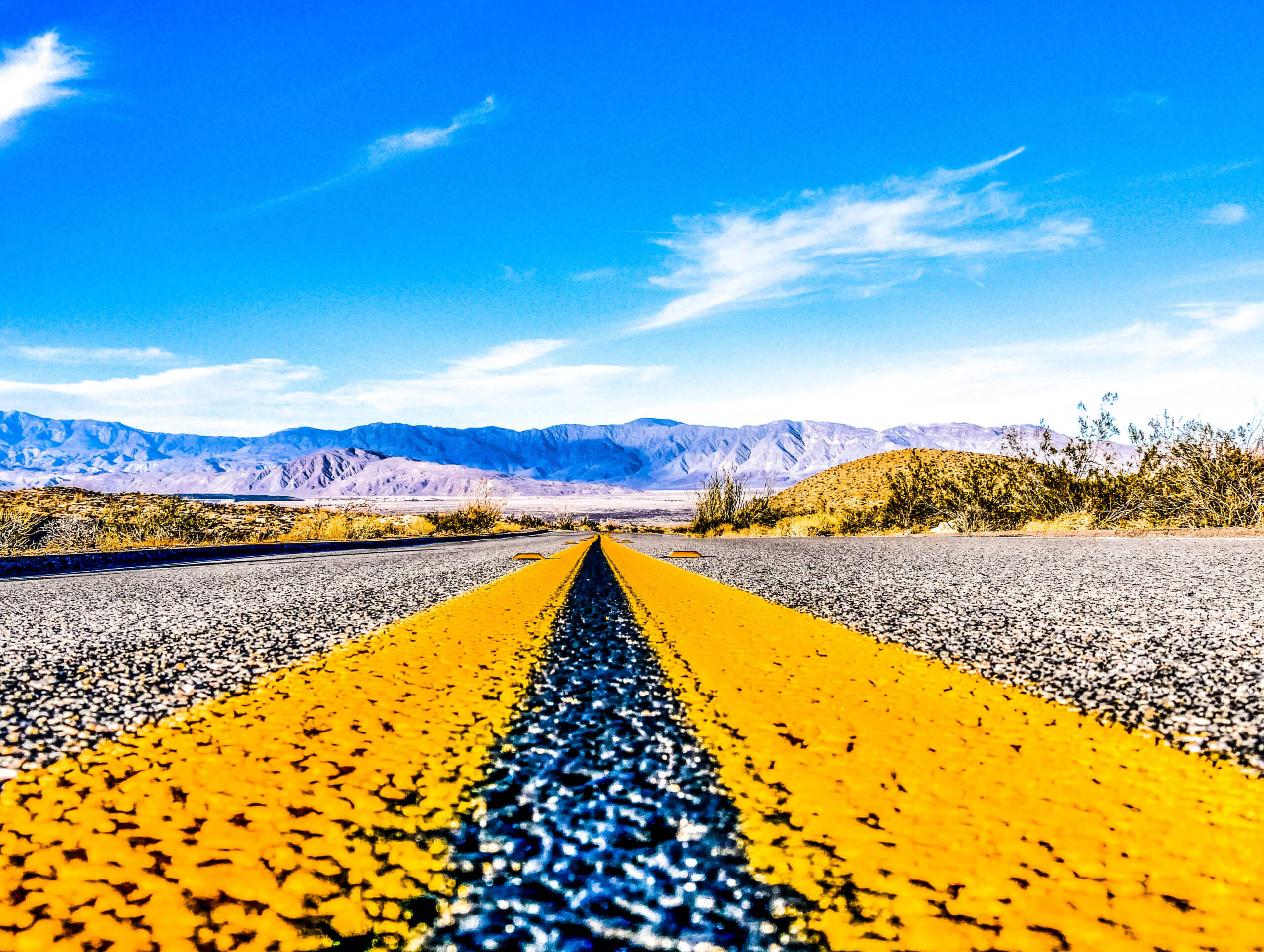 Route désert californien Anza Borrego State Park