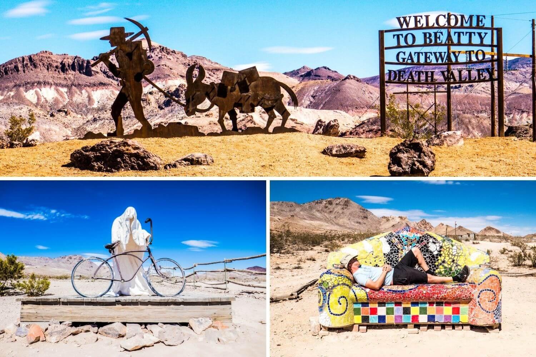 Rhyolite désert Death Valley