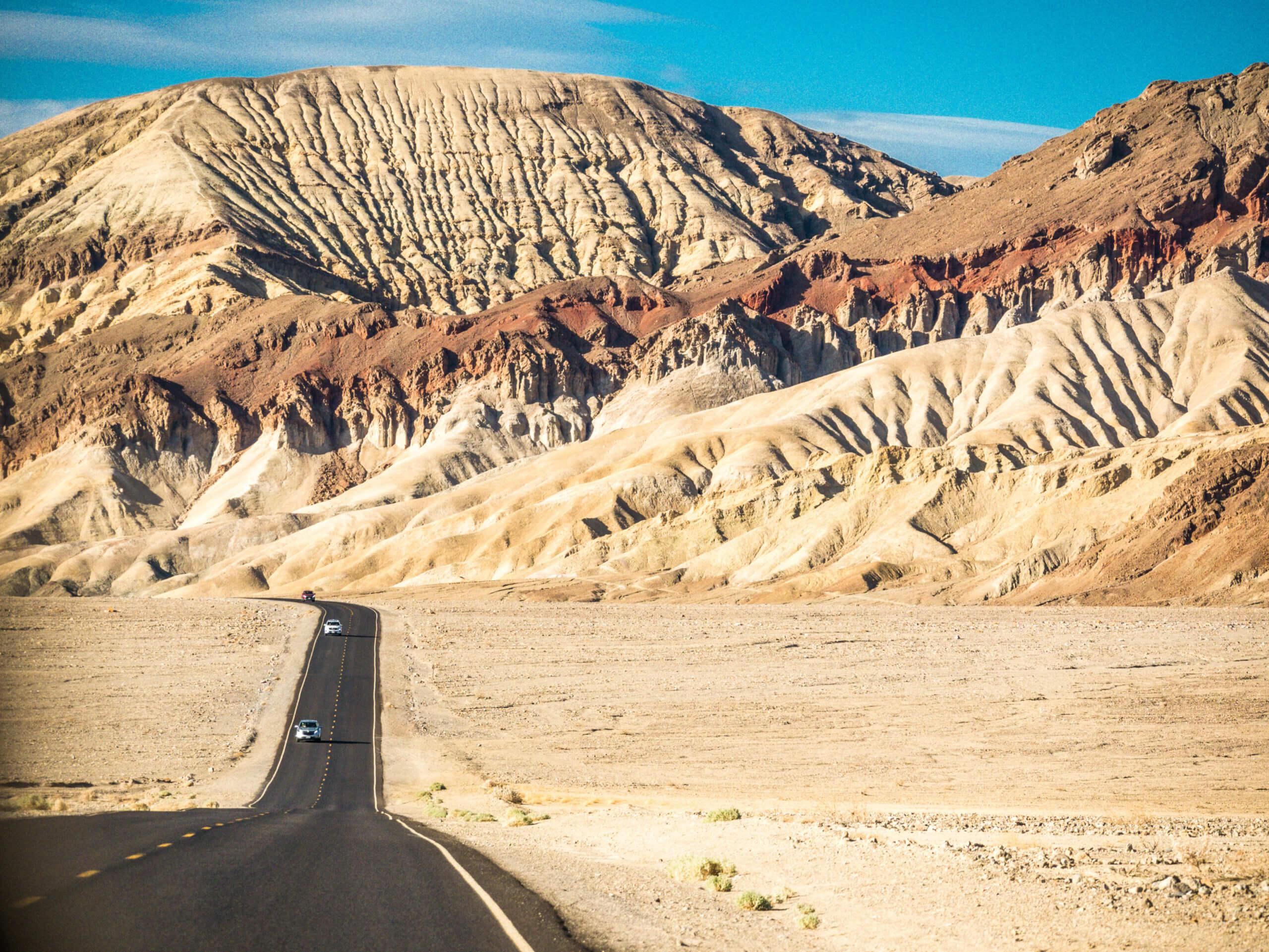 Scenic drive désert de Vallée de la Mort