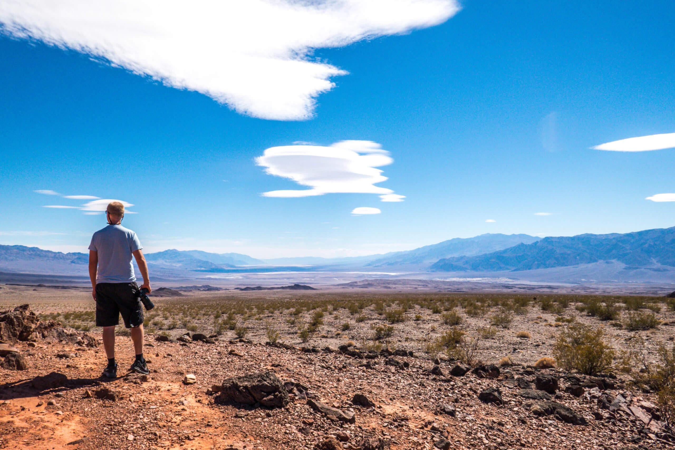 Vue sur le désert de la Vallée de la Mort